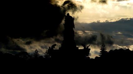 Germany Niederwald monument sky summoning
