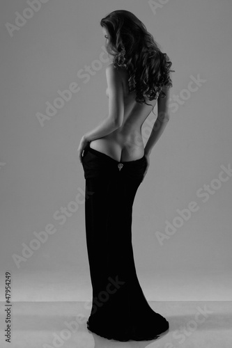 Foto op Canvas Akt Silhouette of a woman