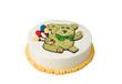 Delicious colorful birthday cake