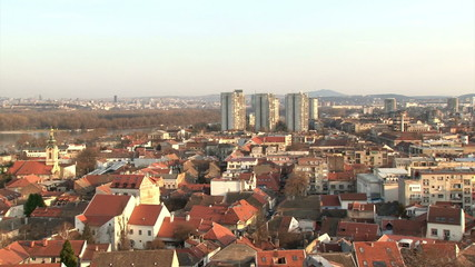 Belgrade, Zemun, pan right