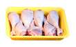 Chicken meat: legs in the retail tray