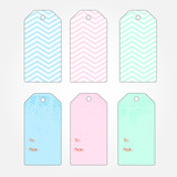 Set of vector chevron gift tags for your design poster