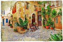 Chania, urokliwe uliczki starego crete-