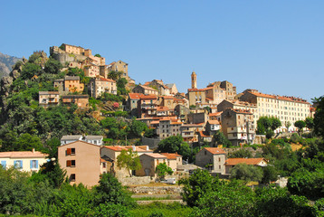 village de Corte, Corse