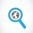 magnifier world icon
