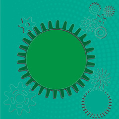 Vector Background- Abstract gear wheels