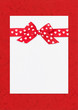 red bow on paper sheet, holday frame
