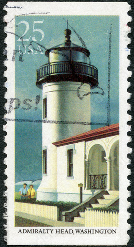 USA - 1990: shows Admiralty Head, Washington, series Lighthouses