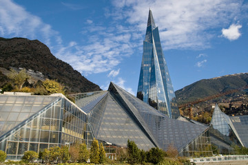 Glass building in Andorra