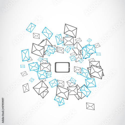 tablet message mailing concept