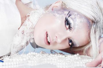 Beautiful snow queen.