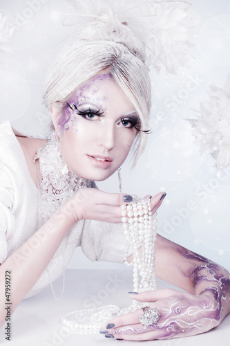 Beautiful snow queen.
