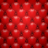 Fototapety Red vector upholstery leather pattern background.