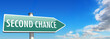 signpost SECOND CHANCE