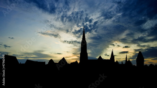 Germany Ulm Minster late afternoon