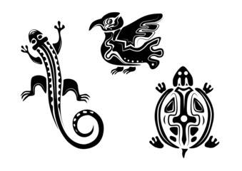 Indian-stylized animals