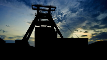 Germany Zollverein coal mine late afternoon