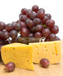cheese and grapes close-up