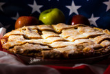 Homemade American Tradition Baked Apple Pie