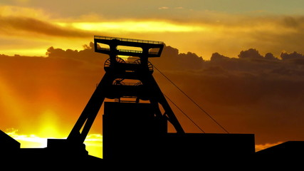 Germany Zollverein coal mine sunrise