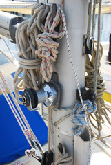 Sailing boat ropes at Marina of Ravenna
