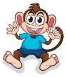 A happy monkey