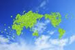 葉っぱの世界地図