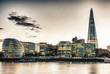 London Skyline at Dusk with City Hall and Modern Buildings, Rive