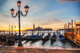 Gondolas floating in the Grand Canal