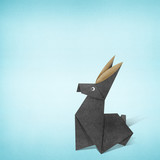 Origami rabbit made from Recycle Paper