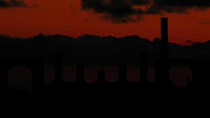 Italia Pompei Naples sunset