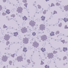 pattern of lilac flowers