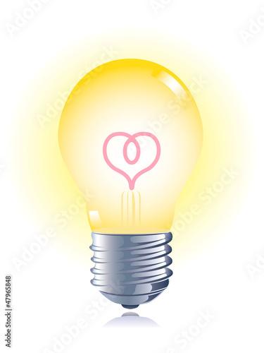 電球 ハート エコロジー