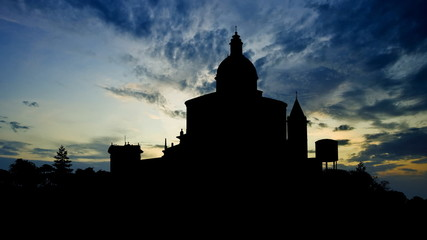 Italy Bologna San Luca sanctuary late afternoon