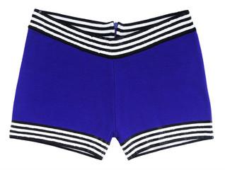 blue swimming trunks