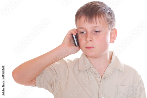 boy telephoned