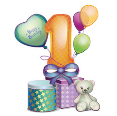 Happy birthday. Balloon for the first year