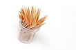 small quantity tree toothpick in plastic packing