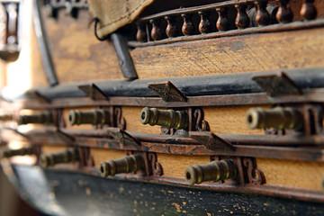Ship model closeup