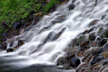 Waterfall flow motion