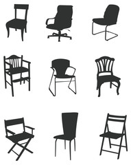 Sets of silhouette chair