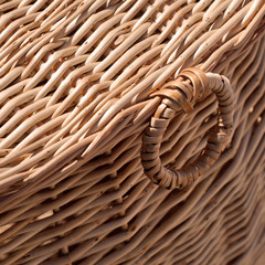 Wicker basket close-up photo