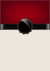 Red abstract vintage card and badge