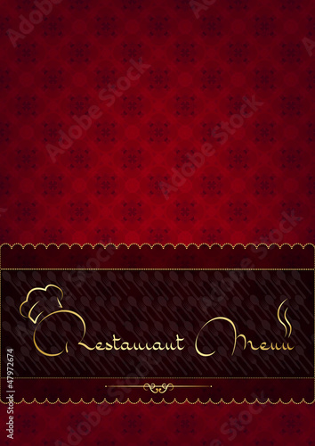 Red abstract restaurant menu cover