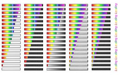 Colorful different loader progress bar, vector