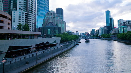 Time lapse of Southbank Melbourne's Skyline