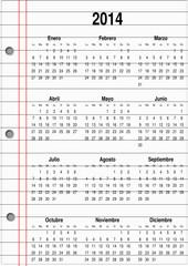 Calendario para el año 2014