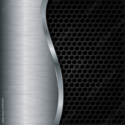 Abstract metallic background, vector illustration