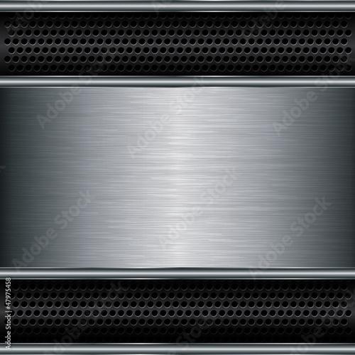 Abstract metallic background, vector illustration