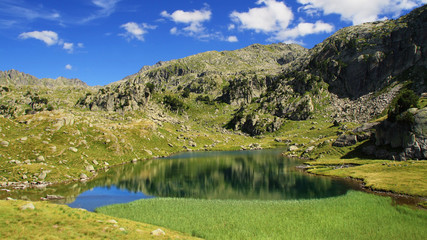 Serene landscape in the Pyrenees